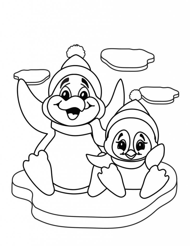 free printable penguin coloring pages cute penguin coloring pages image animal place pages penguin printable coloring free
