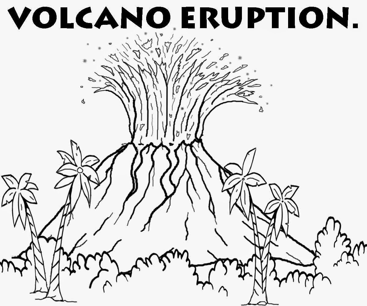 free printable volcano coloring pages printable volcano coloring pages coloring home pages printable free volcano coloring