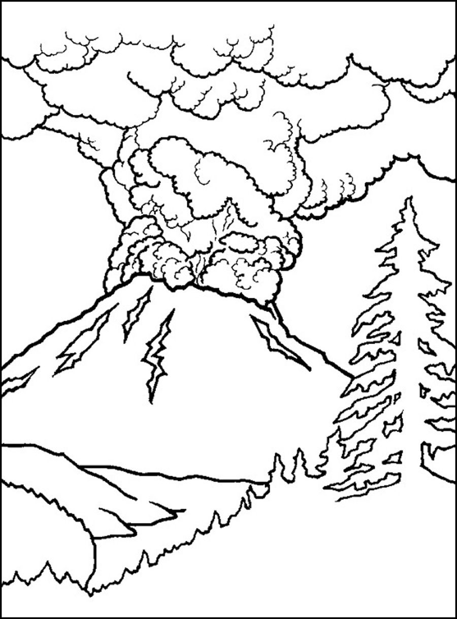 free printable volcano coloring pages printable volcano coloring pages coloring home pages volcano printable free coloring
