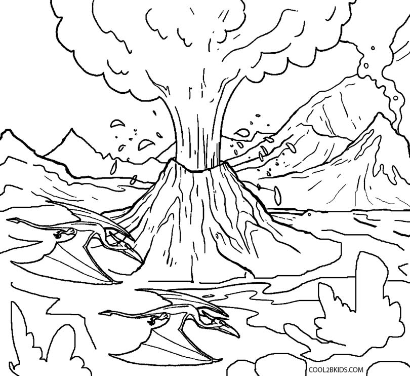 free printable volcano coloring pages printable volcano coloring pages for kids cool2bkids free volcano pages coloring printable