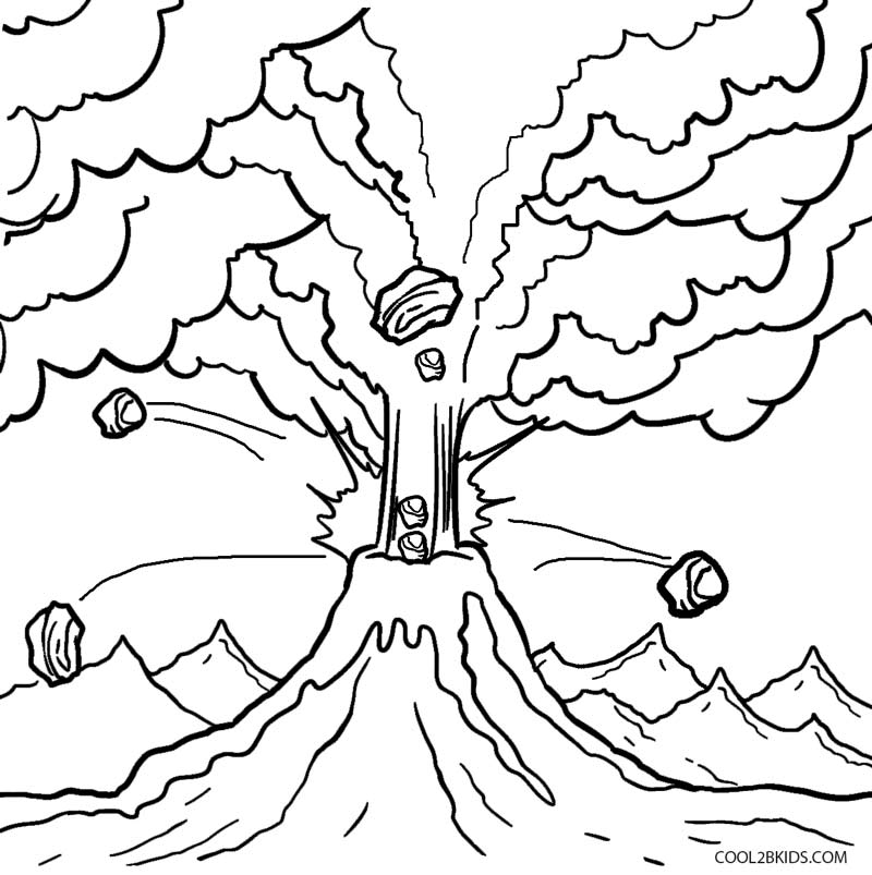free printable volcano coloring pages printable volcano coloring pages for kids free volcano coloring pages printable