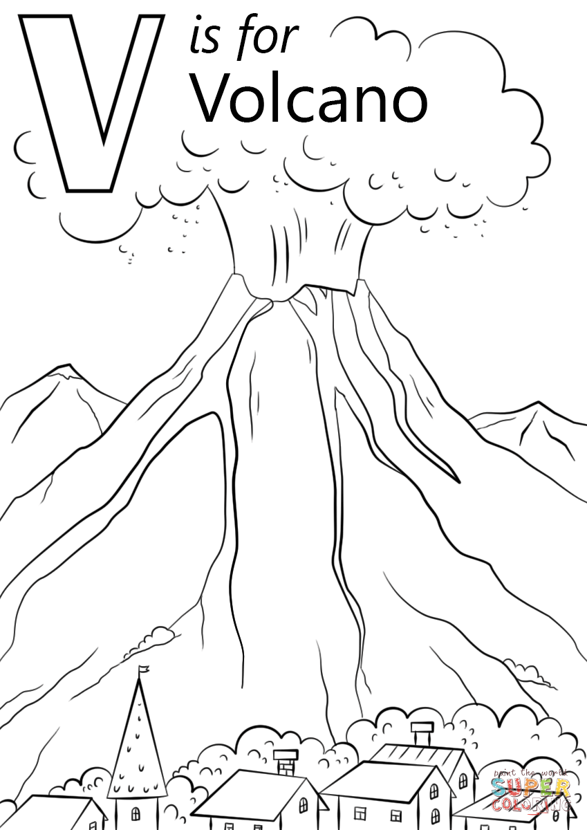 free printable volcano coloring pages v is for volcano coloring page free printable coloring pages printable free coloring volcano pages