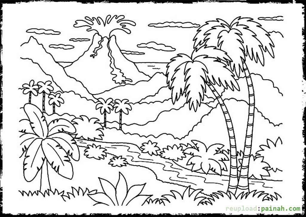 free printable volcano coloring pages volcano coloring pages for kids coloring home printable free coloring pages volcano