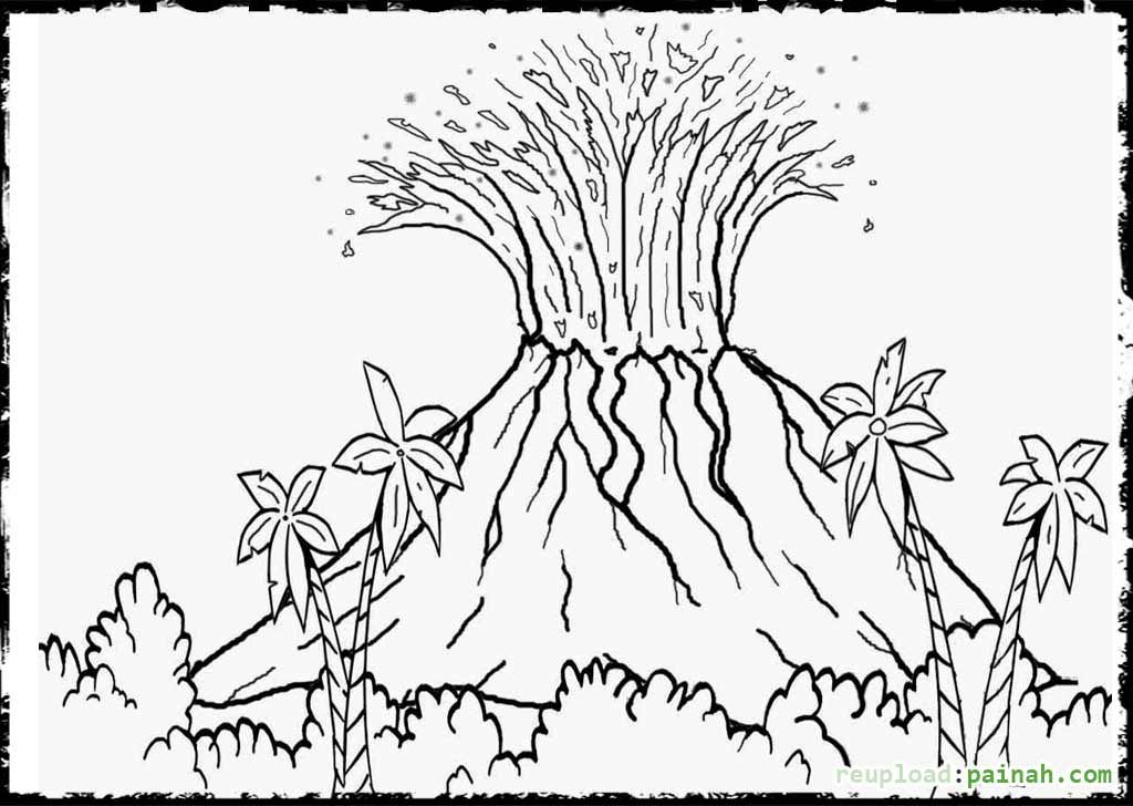 free printable volcano coloring pages volcano coloring pages free for volcano landscape ideas coloring volcano pages free printable