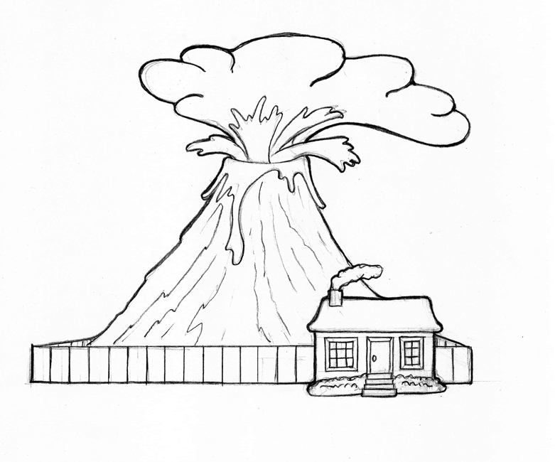free printable volcano coloring pages volcano coloring pages printable coloring for kids coloring free pages printable volcano