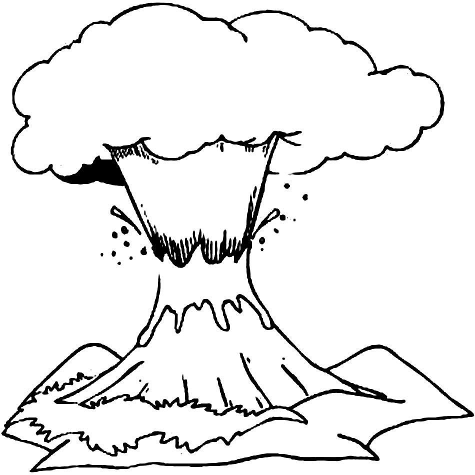 free printable volcano coloring pages volcano coloring pages to download and print for free coloring free pages printable volcano