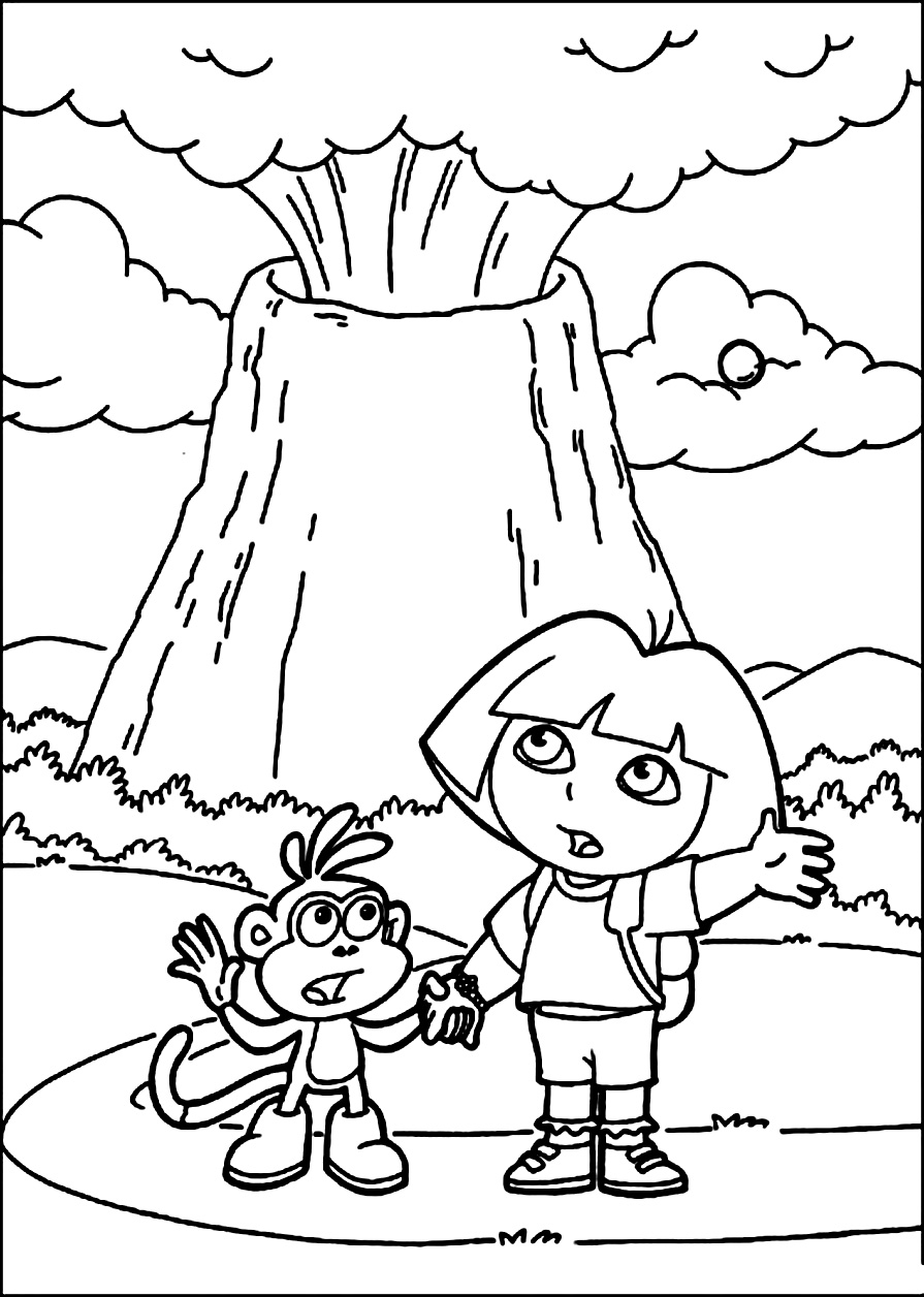 free printable volcano coloring pages volcano eruption drawing at getdrawings free download free volcano coloring pages printable