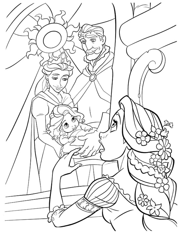free rapunzel coloring pages best free disney princess coloring pages rapunzel free pages free coloring rapunzel