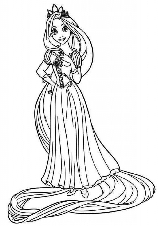free rapunzel coloring pages free printable tangled coloring pages for kids cool2bkids pages coloring rapunzel free