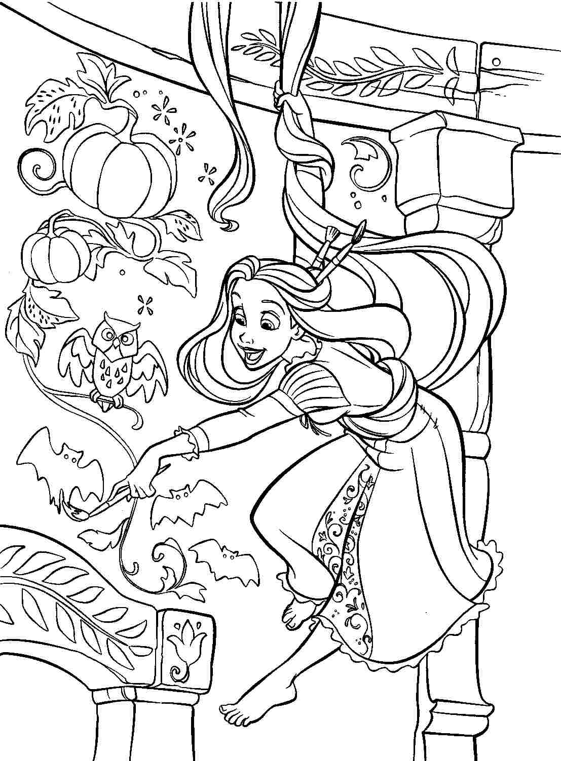 free rapunzel coloring pages rapunzel from disney tangled coloring page free free rapunzel pages coloring