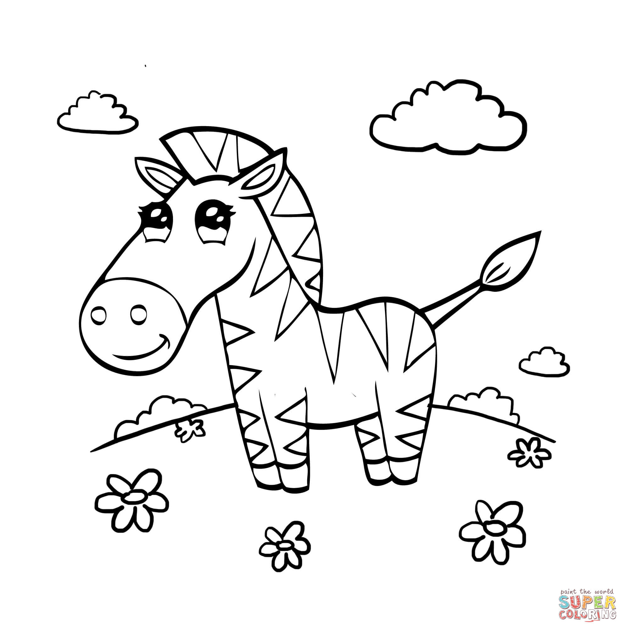 free zebra coloring pages baby zebra drawing at getdrawings free download pages zebra free coloring