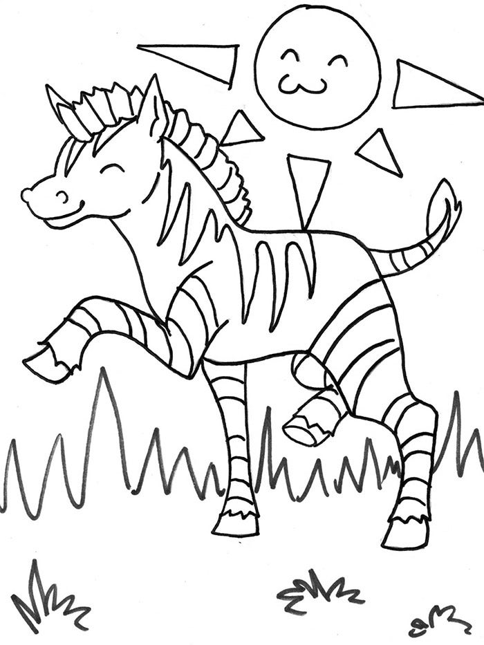 free zebra coloring pages free printable zebra coloring pages for kids boyama zebra coloring free pages
