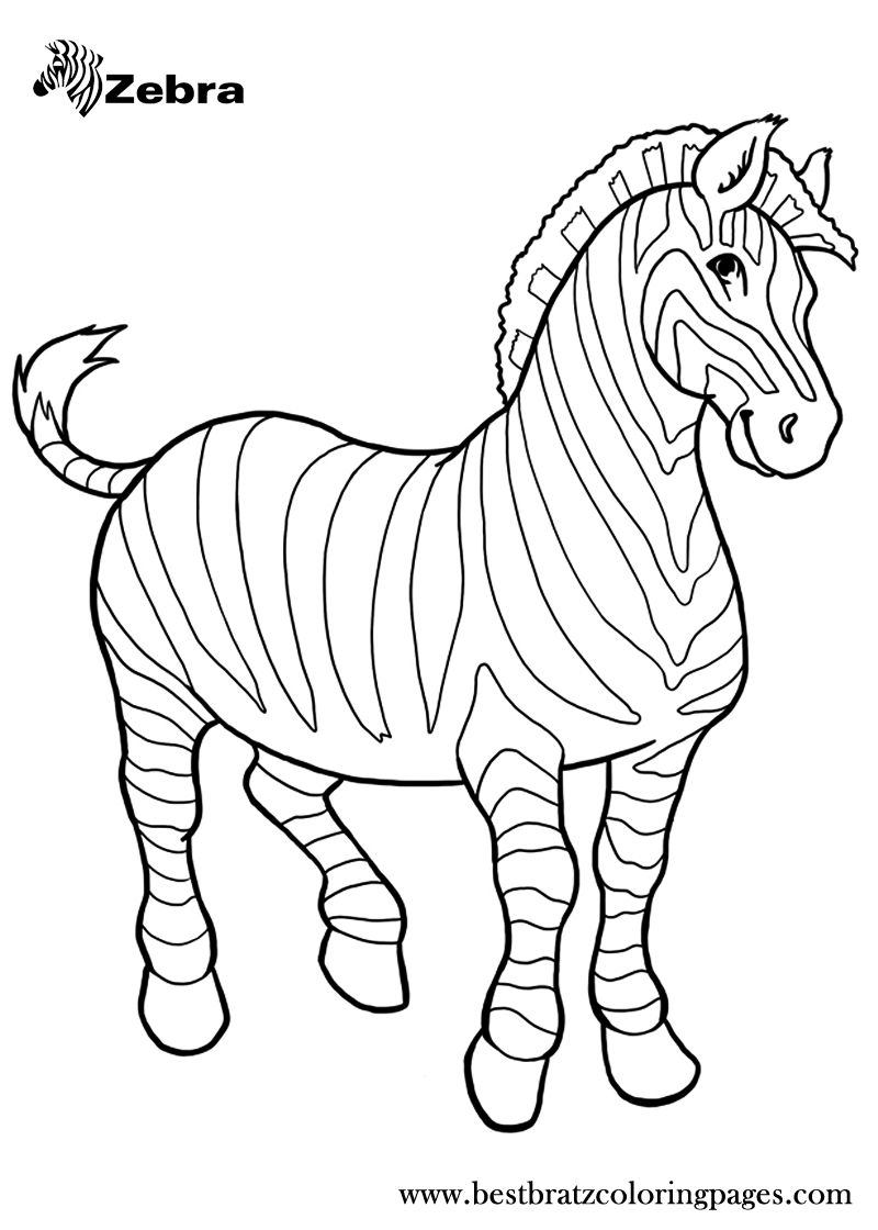free zebra coloring pages printable zebra preschool coloring page for kidsfree zebra coloring free pages