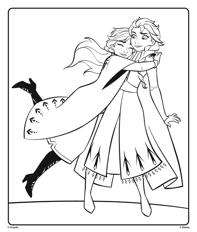 frozen elsa and anna coloring pages anna and elsa from disney frozen 2 hugging coloring page frozen elsa and pages anna coloring
