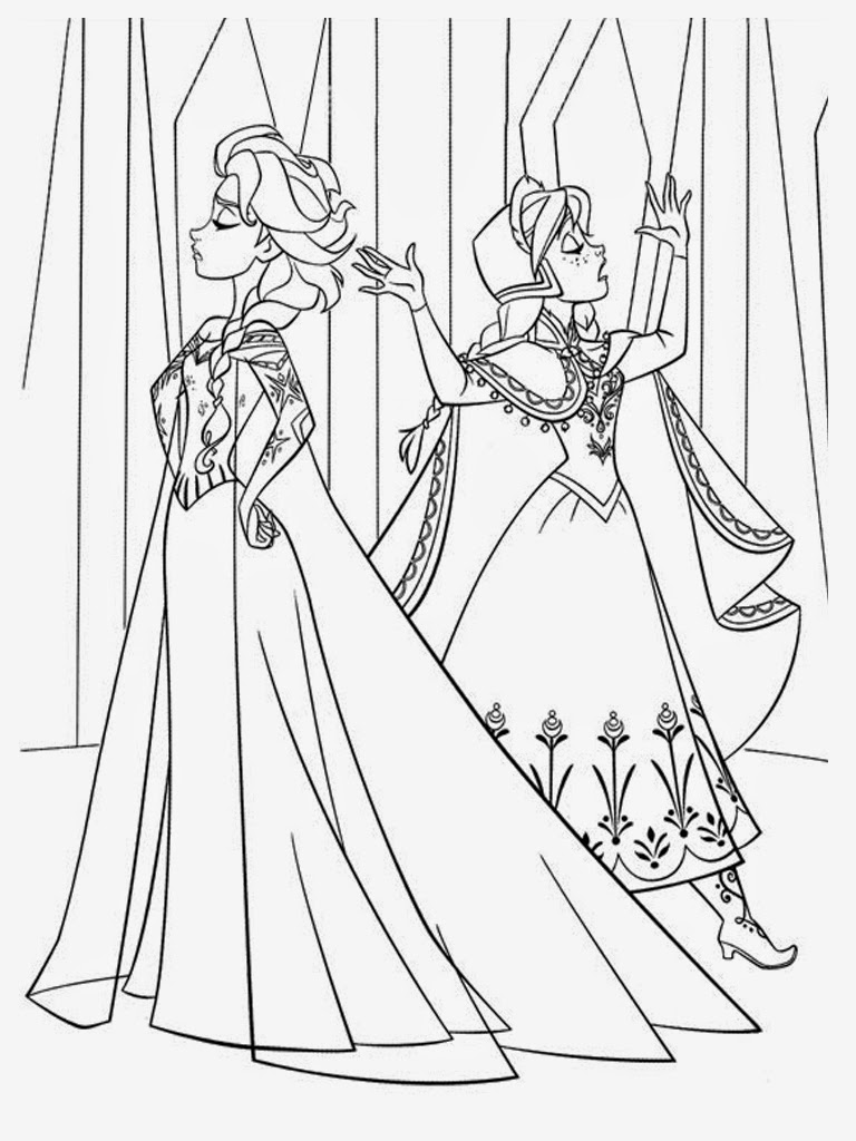 frozen elsa and anna coloring pages coloring page of anna and elsa from frozen elsa coloring elsa frozen anna pages and
