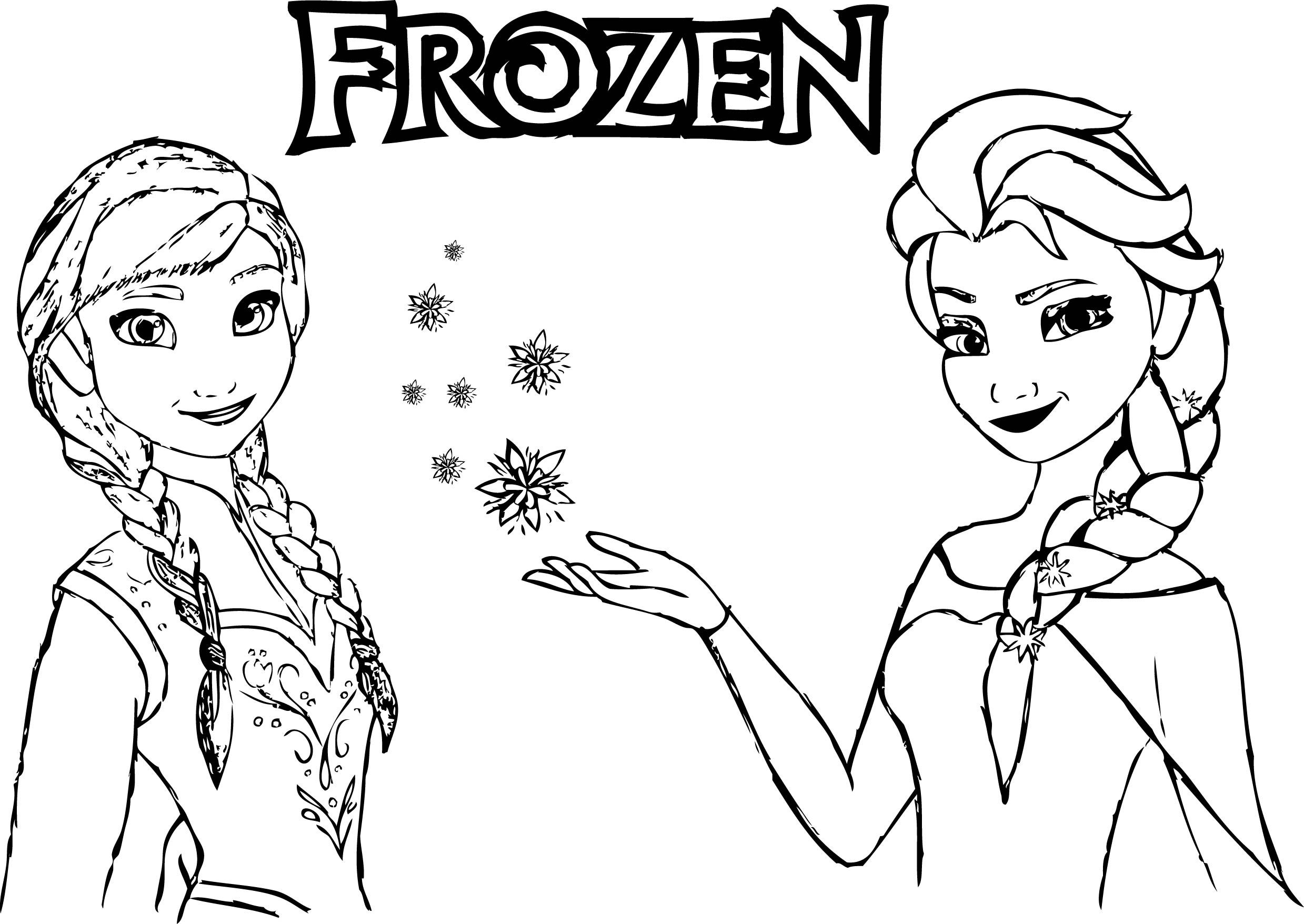 frozen elsa and anna coloring pages frozen drawing anna and elsa at getdrawings free download anna elsa coloring frozen pages and