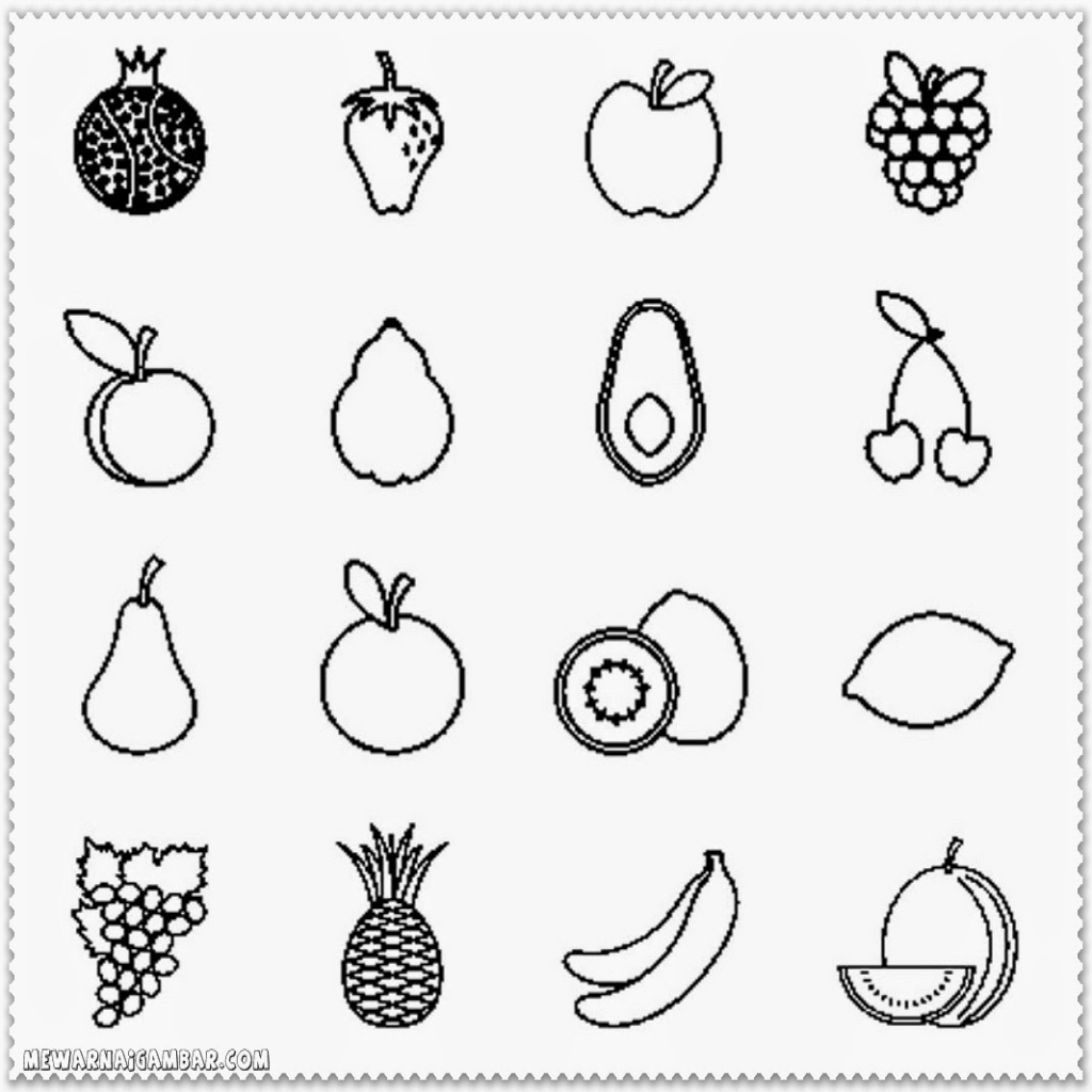 fruits drawings color fruit drawing images at getdrawings free download drawings color fruits
