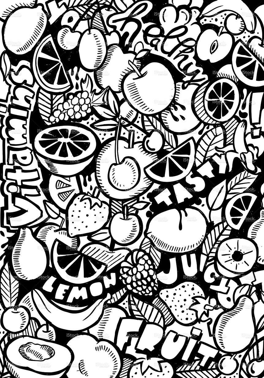 fruits drawings color fruits drawing for colouring at getdrawings free download drawings color fruits