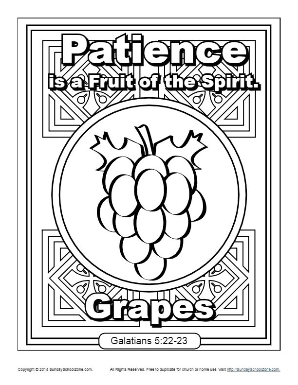 fruits of the spirit coloring pages fruit of the spirit for kids patience coloring page in pages spirit fruits coloring of the