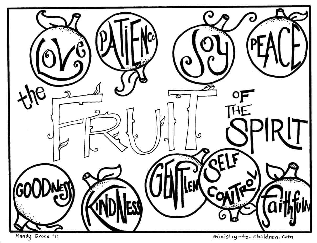 fruits of the spirit coloring pages image detail for fruit of the spirit coloring pages the of pages coloring spirit fruits
