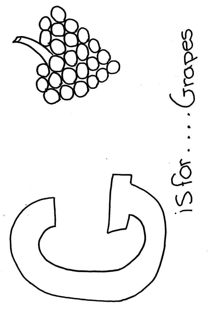 g for grapes coloring page alphabet coloring sheet janice39s daycare for g page coloring grapes