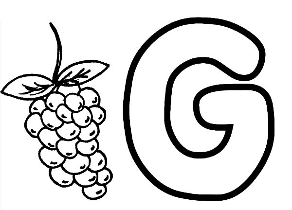 g for grapes coloring page alphabet g for grapes coloring pages color luna coloring g grapes page for