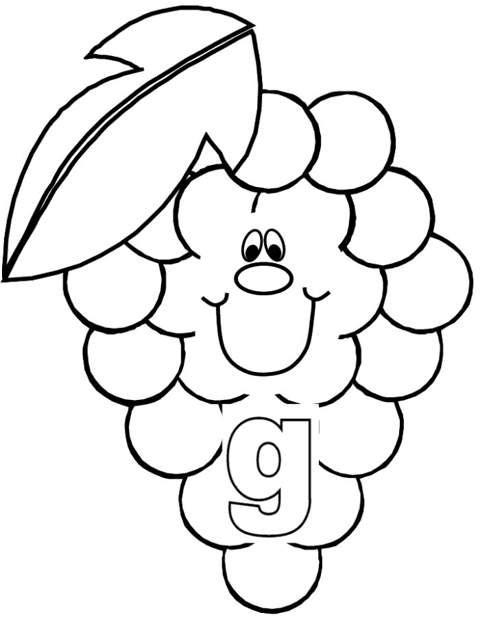 g for grapes coloring page coloring activity pages quotgg is for grapesquot coloring page grapes g page for coloring
