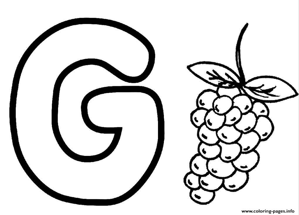 g for grapes coloring page free printable coloring pages part 7 grapes coloring g for page