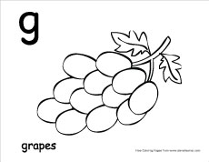 g for grapes coloring page g gorilla grapes coloring page coloring pages free g coloring page grapes for