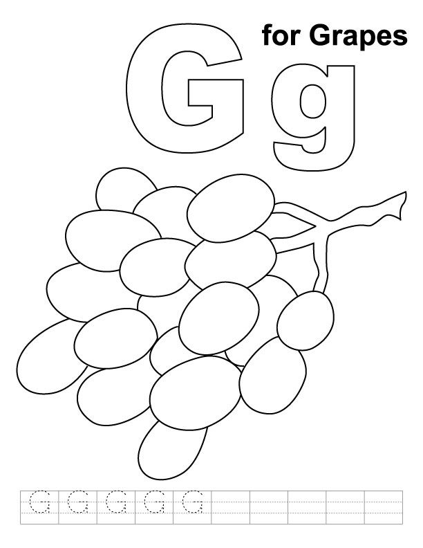 g for grapes coloring page g is for grapes coloring page twisty noodle grapes g for page coloring