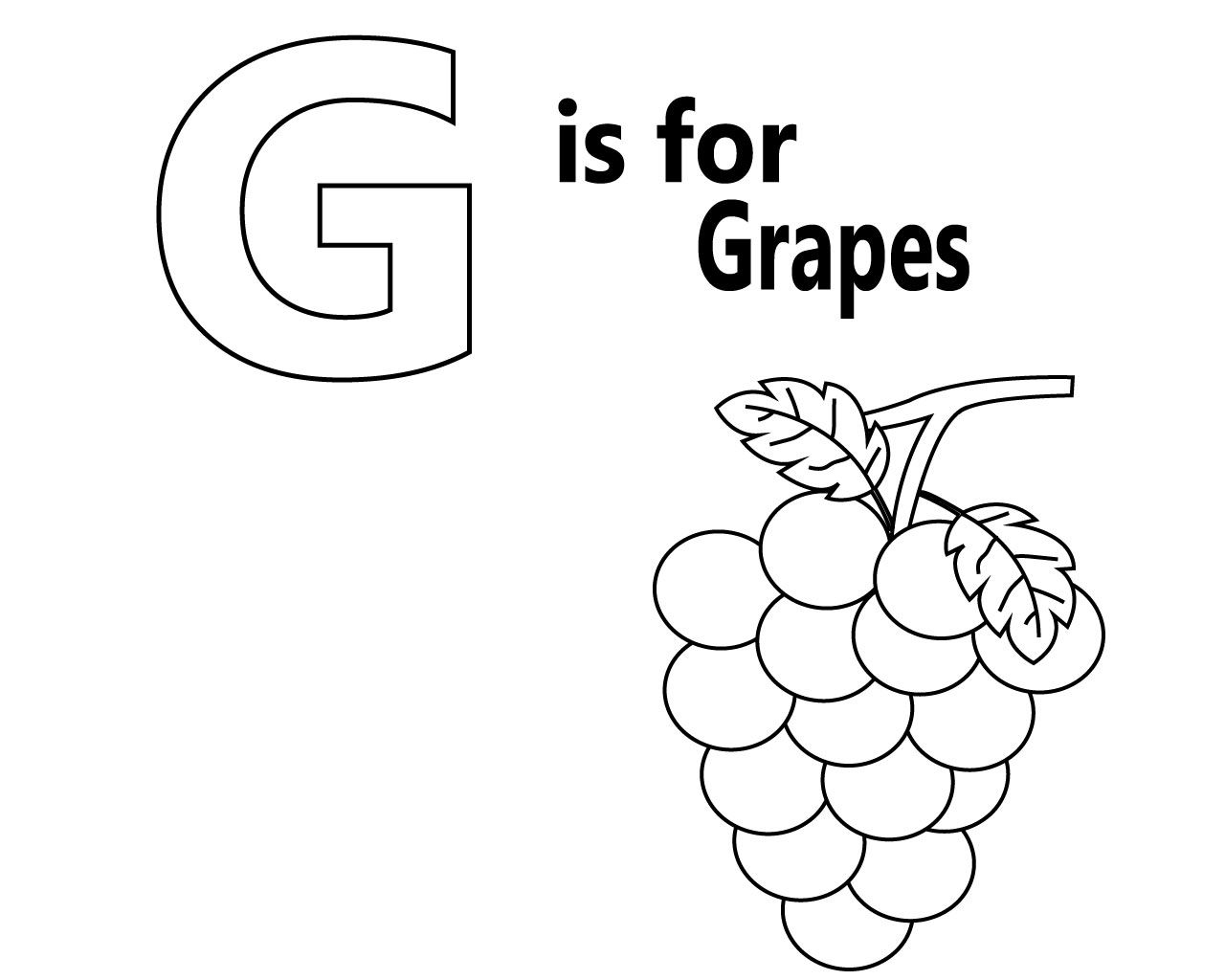 g for grapes coloring page g is for grapes coloring pages color luna coloring g grapes page for