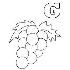 g for grapes coloring page grapes for smiling letter g coloring pages color luna grapes page coloring g for