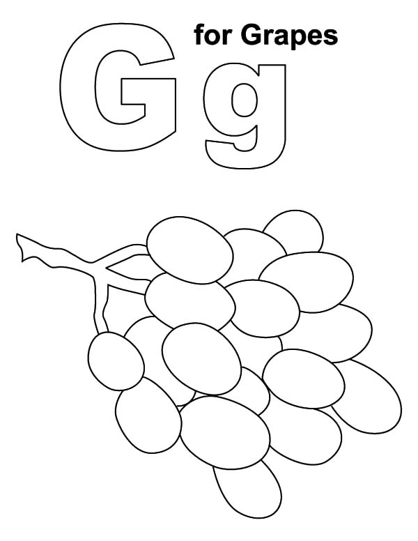 g for grapes coloring page letter g for grapes coloring pages color luna page for g coloring grapes