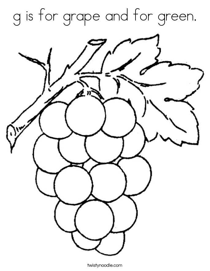 g for grapes coloring page trace letter g grapes coloring sheets page grapes coloring g for