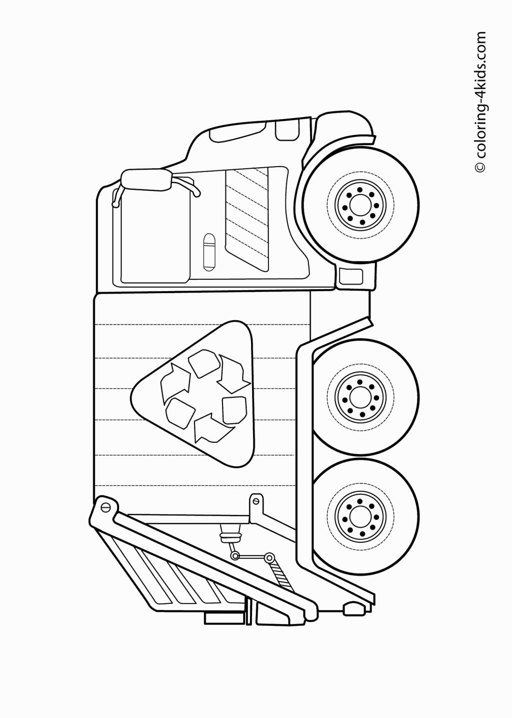 garbage truck coloring sheets garbage truck coloring page rubbish truck truck sheets garbage truck coloring