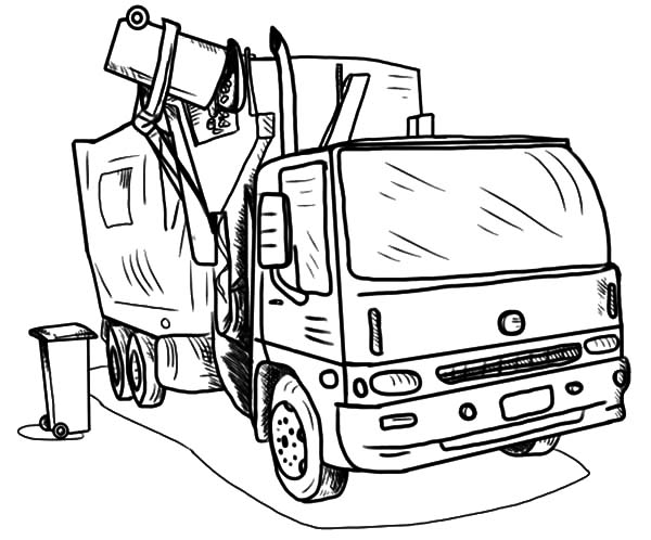 garbage truck coloring sheets garbage truck printable coloring pages pinterest garbage sheets coloring truck