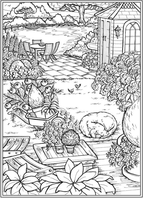 garden coloring 6 country garden coloring pages stamping garden coloring