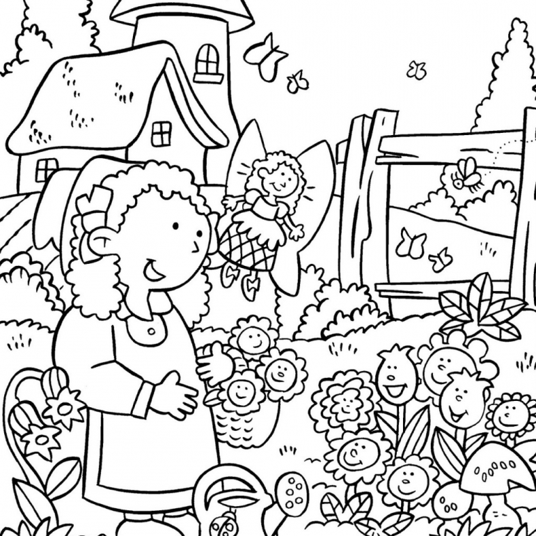 garden coloring flower garden coloring pages to download and print for free garden coloring