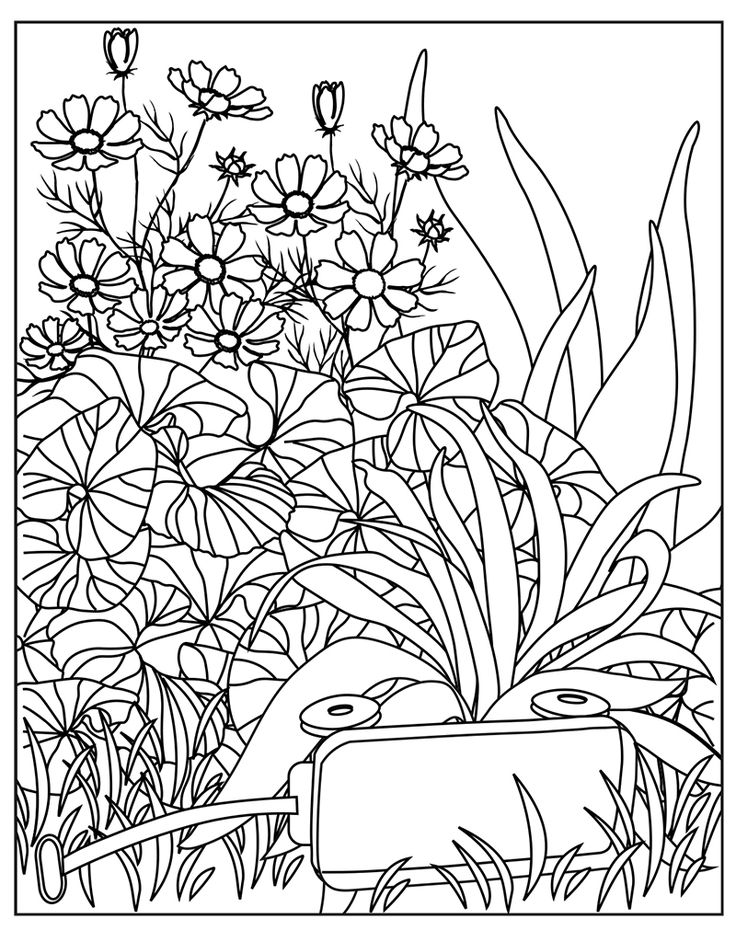 garden coloring zendoodle coloring big picture calming garden garden garden coloring