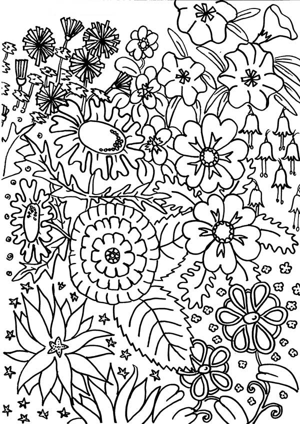 garden pictures to colour flower garden coloring pages printable at getcoloringscom garden colour pictures to