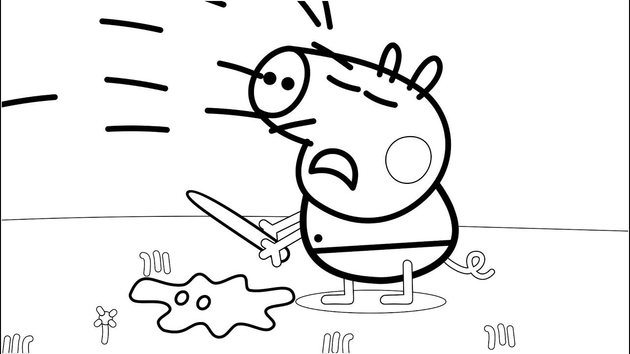 george pig colouring coloring page george pig george pig colouring