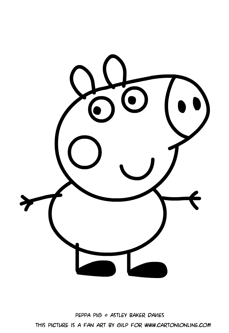 george pig colouring george peppa pig coloring pages printable for kids adults pig colouring george
