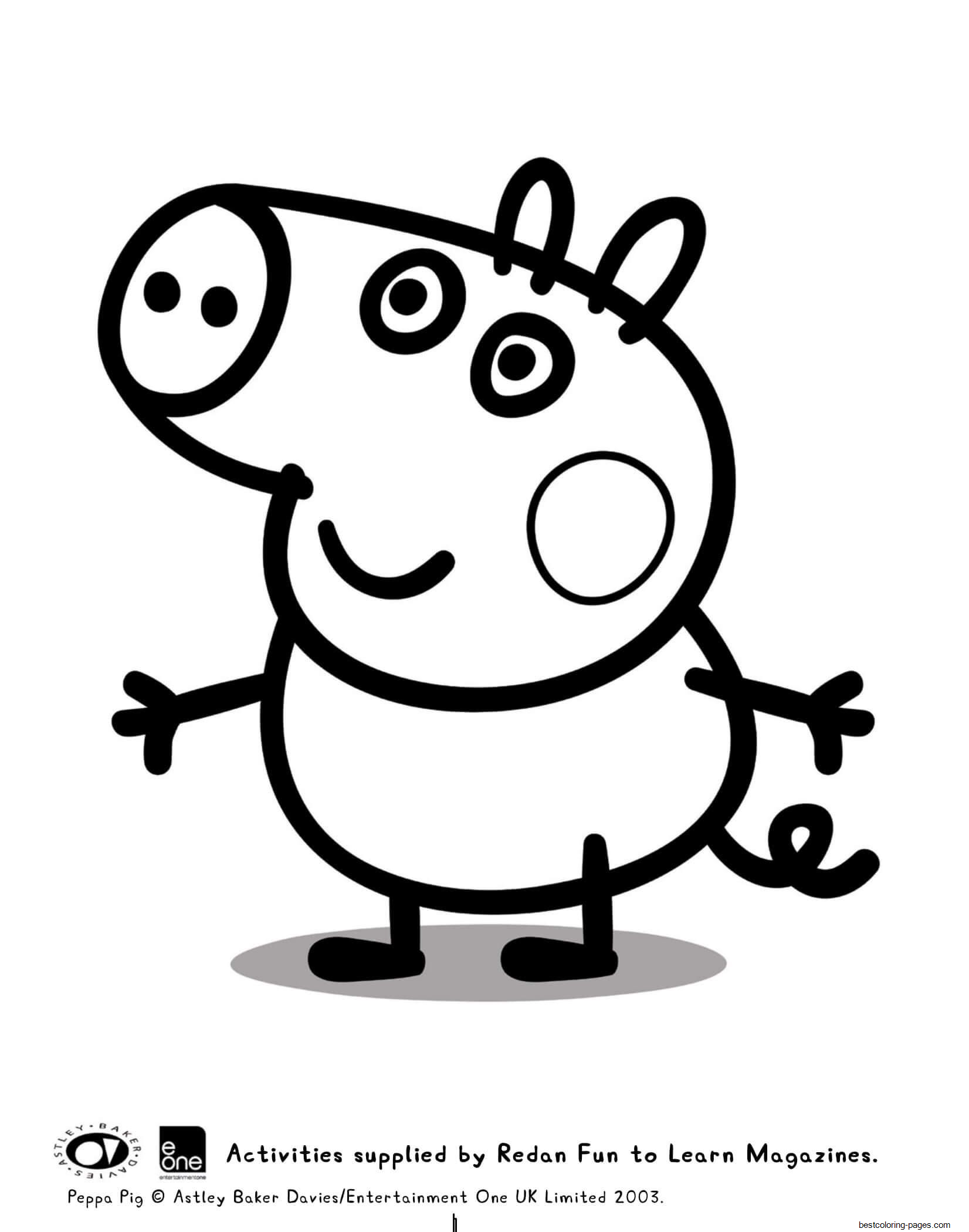 george pig colouring george pig coloring pages for kids colouring george pig
