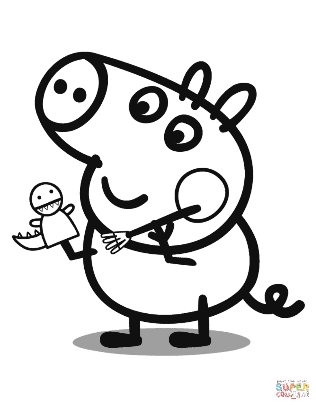 george pig colouring george pig plays with dragon coloring page free pig george colouring