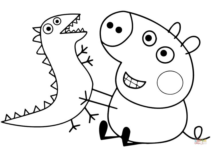george pig colouring george pig plays with dragon coloring page from peppa pig george pig colouring