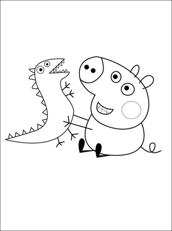 george pig colouring peppa pig coloring pages free download on clipartmag colouring george pig