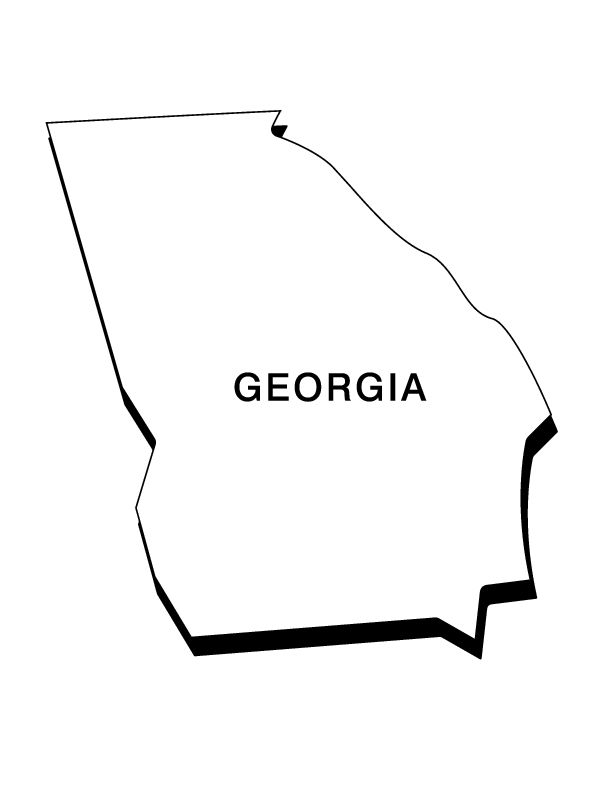 georgia state seal coloring page state flag of georgia coloring page free printable state seal page georgia coloring
