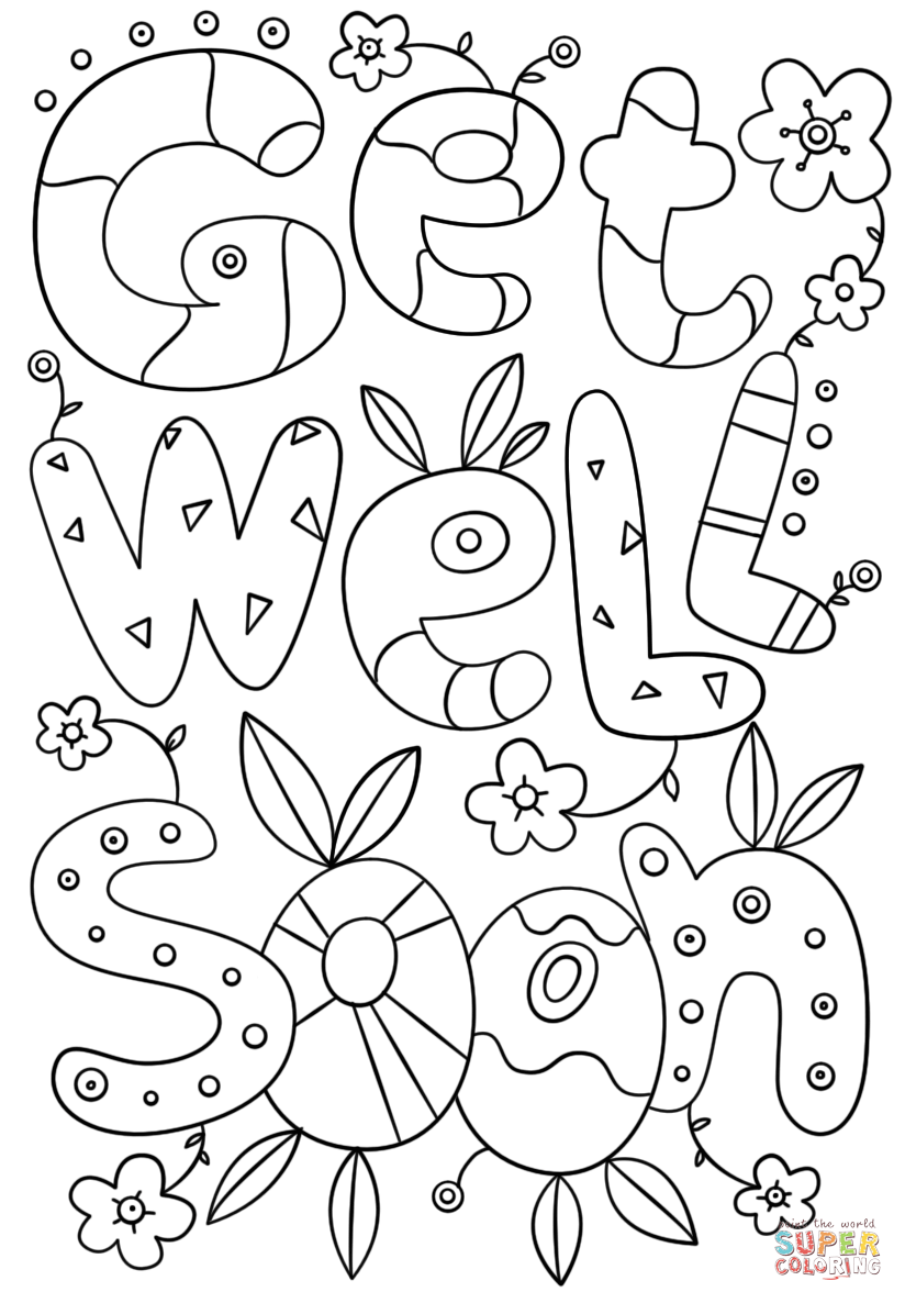 get well soon printable coloring cards cute get well soon coloring page free printable coloring well cards soon coloring get printable
