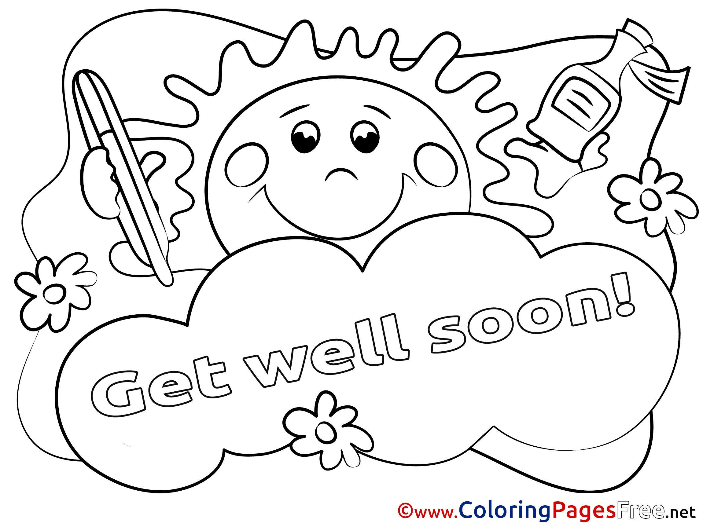 get well soon printable coloring cards feel better coloring pages at getcoloringscom free coloring soon printable get cards well