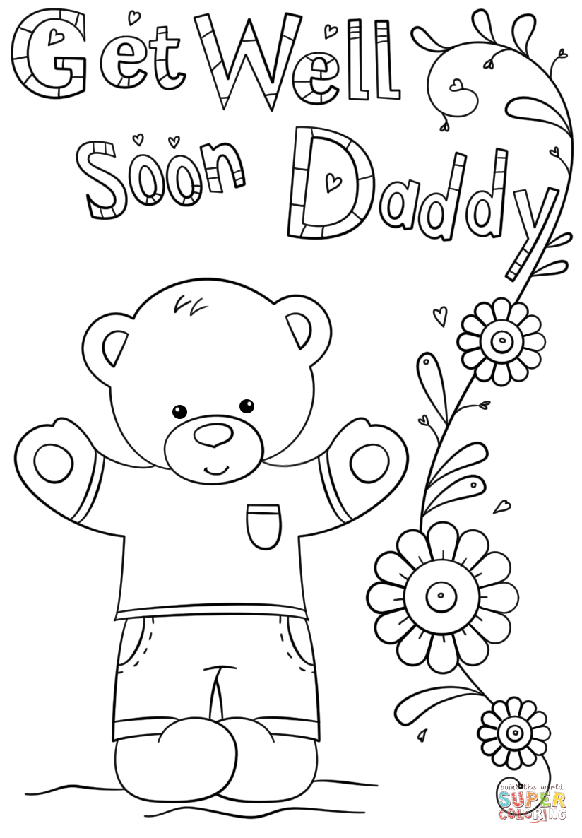 get well soon printable coloring cards free printable get well soon coloring pages at coloring well get printable soon cards